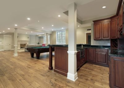 6739103 - basement in new construction home with bar and fireplace