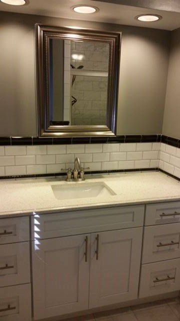 bathroom cabinet installation